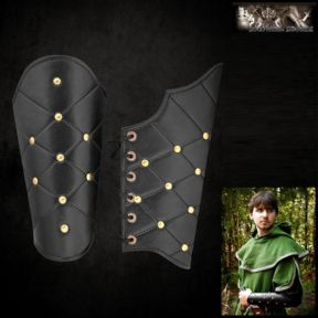Roman / Greek Leather Vambraces With Lozenge Pattern